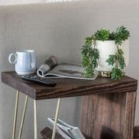 Ouseburn Hairpin Side Table  With Storage | Choice of Colours